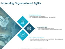 Increasing Organizational Agility Customer Involvement Ppt Powerpoint Presentation Styles Example