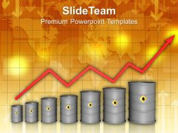 Increasing Price Of Oil Concept Powerpoint Templates PPT Themes And Graphics 0113