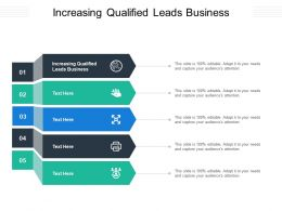 Increasing Qualified Leads Business Ppt Powerpoint Presentation Infographic Template Cpb