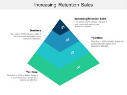 Increasing Retention Sales Ppt Powerpoint Presentation Slides Images Cpb