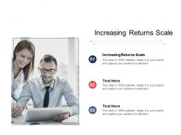 Increasing Returns Scale Ppt Powerpoint Presentation Styles Model Cpb