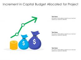 Increment In Capital Budget Allocated For Project