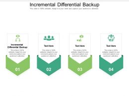 Incremental Differential Backup Ppt Powerpoint Presentation Icon Elements Cpb
