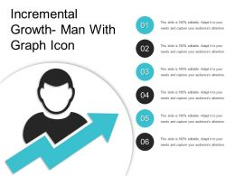 Incremental Growth Man With Graph Icon
