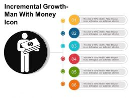 Incremental Growth Man With Money Icon