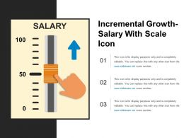 Incremental Growth Salary With Scale Icon