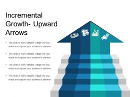 Incremental Growth Upward Arrows