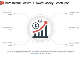 Incremental Growth Upward Money Graph Icon