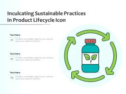 Inculcating Sustainable Practices In Product Lifecycle Icon