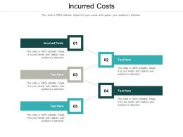 Incurred Costs Ppt Powerpoint Presentation Ideas Example File Cpb