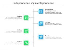 Independence Vs Interdependence Ppt Powerpoint Presentation Summary Cpb