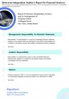Independent Auditors Report Survey Results Template 46 Report Infographic Ppt Pdf Document