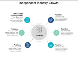 Independent Industry Growth Ppt Powerpoint Presentation Outline Brochure Cpb