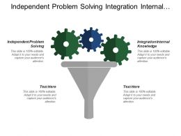 Independent Problem Solving Integration Internal Knowledge Purchasing Subcontracting