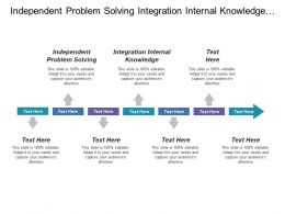 Independent Problem Solving Integration Internal Knowledge Standardized Transactions