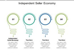 Independent Seller Economy Ppt Powerpoint Presentation Portfolio Guide Cpb
