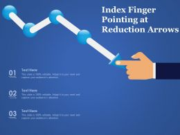 Index Finger Pointing At Reduction Arrows