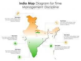 India Map Diagram For Time Management Discipline Infographic Template