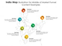 India Map Illustration For Middle Of Market Funnel Content Examples Infographic Template