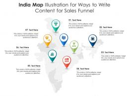 India Map Illustration For Ways To Write Content For Sales Funnel Infographic Template