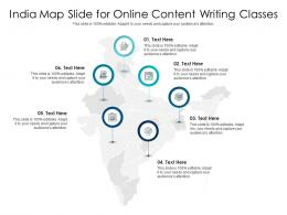 India Map Slide For Online Content Writing Classes Infographic Template