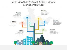 India Map Slide For Small Business Money Management App Infographic Template