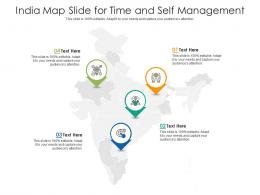 India Map Slide For Time And Self Management Infographic Template