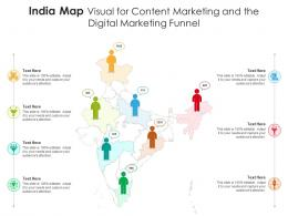 India Map Visual For Content Marketing And The Digital Marketing Funnel Infographic Template