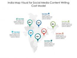 India Map Visual For Social Media Content Writing Cost Model Infographic Template