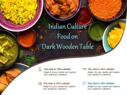 Indian Culture Food On Dark Wooden Table