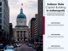 Indiana State Capitol Building In Indianapolis Powerpoint Template