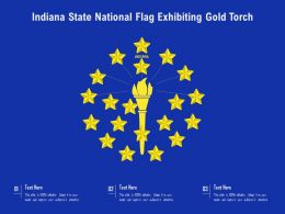 Indiana State National Flag Exhibiting Gold Torch
