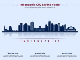 Indianapolis City Skyline Vector Powerpoint Presentation PPT Template