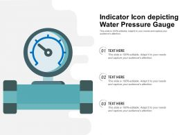 Indicator Icon Depicting Water Pressure Gauge
