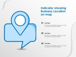 Indicator Showing Business Location On Map