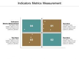 Indicators Metrics Measurement Ppt Powerpoint Presentation Summary Master Slide Cpb