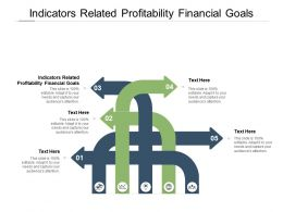 Indicators Related Profitability Financial Goals Ppt Powerpoint Presentation Model Clipart Cpb
