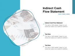 Indirect Cash Flow Statement Ppt Powerpoint Presentation Styles Designs Cpb