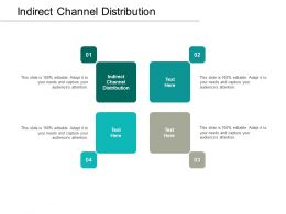 Indirect Channel Distribution Ppt Powerpoint Presentation File Graphics Pictures Cpb