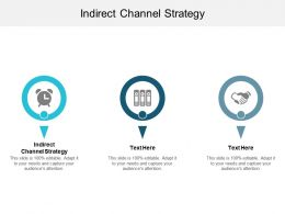 Indirect Channel Strategy Ppt Powerpoint Presentation Icon Good Cpb