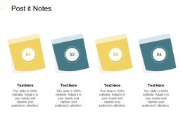 Indirect Go To Market Strategy Post It Notes Ppt Summary Gallery