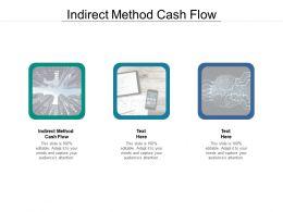 Indirect Method Cash Flow Ppt Powerpoint Presentation Summary Ideas Cpb
