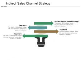 Indirect Sales Channel Strategy Ppt Powerpoint Presentation Inspiration Examples Cpb