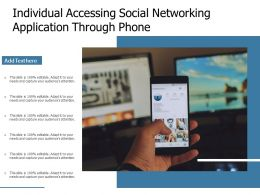 Individual Accessing Social Networking Application Through Phone