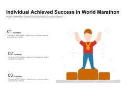 Individual Achieved Success In World Marathon