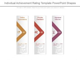 Individual Achievement Rating Template Powerpoint Shapes