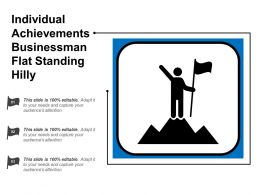 Individual Achievements Businessman Flat Standing Hilly