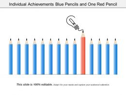 Individual Achievements Gray Pencils And One Blue Pencil