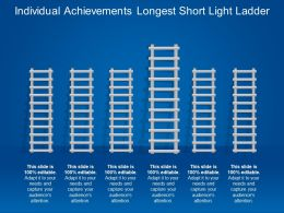 Individual Achievements Longest Short Light Ladder
