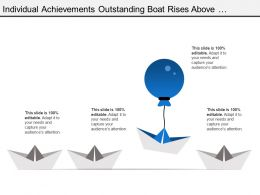 Individual Achievements Outstanding Boat Rises Above With Balloon